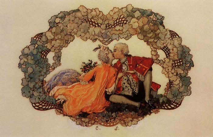 К.А. Сомов.Поцелуй.  1904