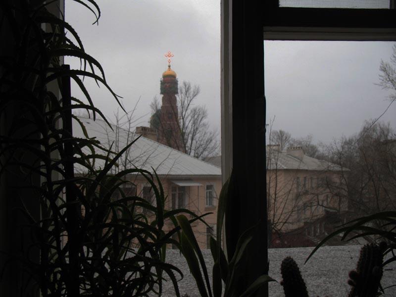 Вид из окна. Хмурое утро