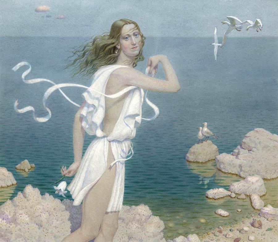 7 А. Мухин-Чебоксарский. Девушка и море. Б., акв. 32х35