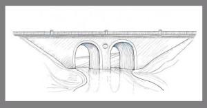 Рисунок-реконструкция студенецкого моста в Тамбове
