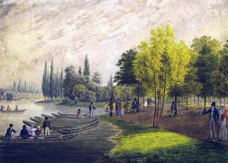 А. Мартынов. Гуляния во дворцовом парке близ Санкт Петербурга. 1818