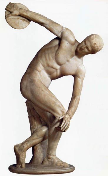Мирон. Дискобол. Древняя Греция. 5 в. до н.э.