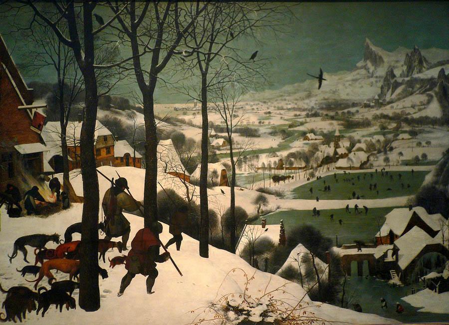 Питер Брейгель Старший. Охотники на снегу. 1565