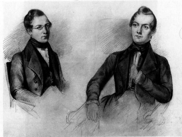 И.Е. Вивьен. Портрет Сергея и Евгения Боратынских. 1826