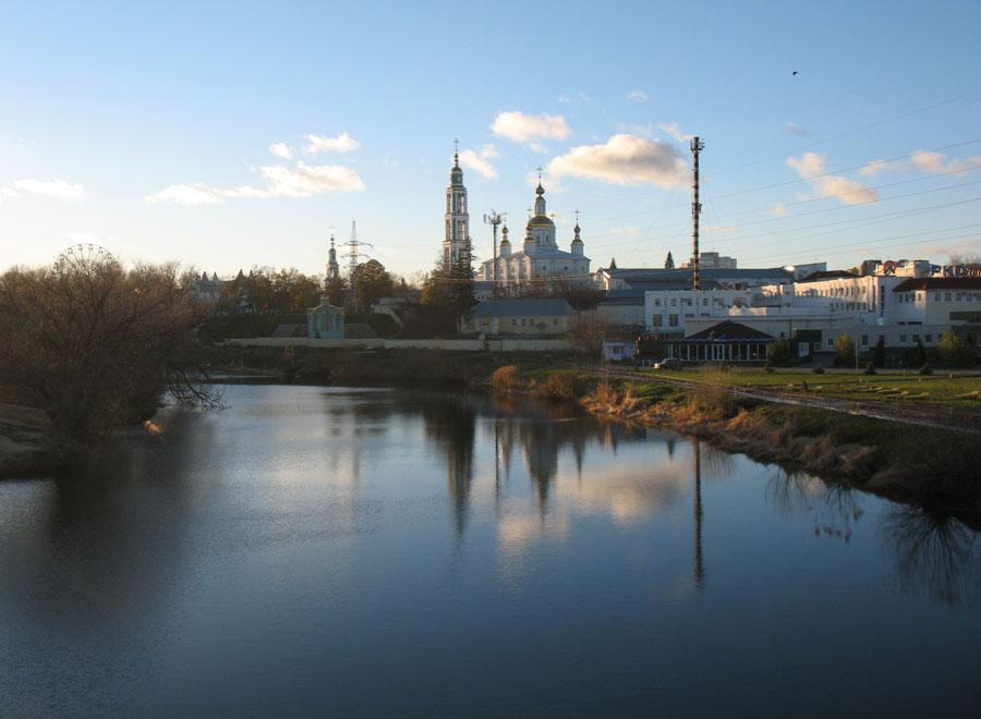 Река Цна у Тамбова. Фото 10 ноября 2012 г.