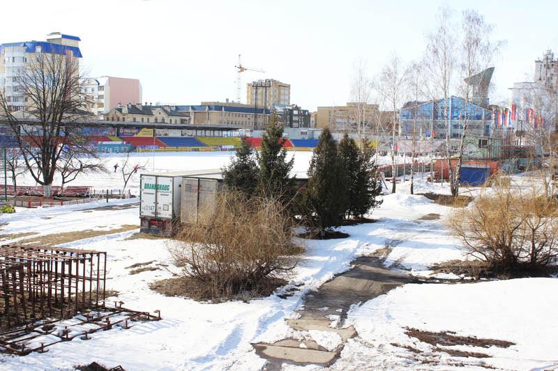 Вид с Державинского моста на стадион Спартак 1