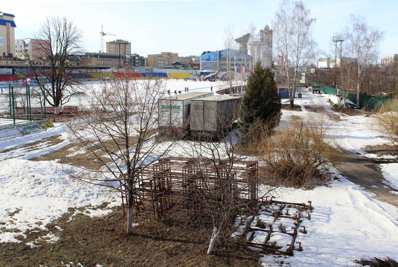 Вид с Державинского моста на стадион Спартак 2