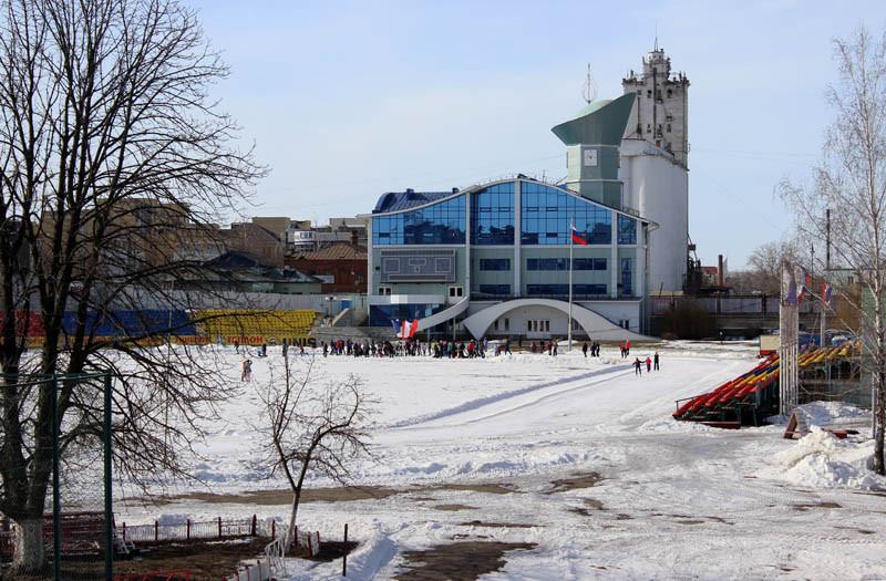 Вид с Державинского моста на стадион Спартак 3