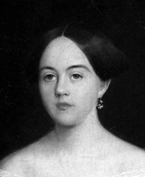С.А. Боратынский. Портрет Елизаветы Антоновны Дельвиг. Около 1850 года. Фрагмент