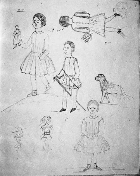 3 Лиза Дельвиг. Рисунок из альбома. 1844