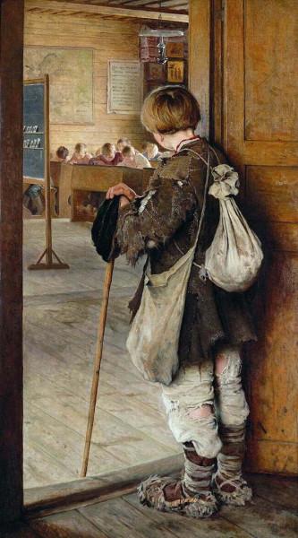 Н.П. Богданов-Бельский. У дверей школы. 1897