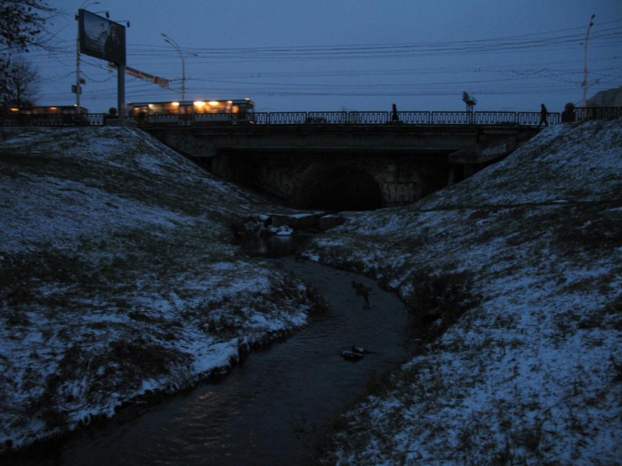 Студенецкий мост в Тамбове утром 7 декабря 2012 г.