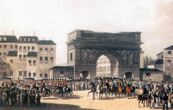 Вступление русских войск в Париж