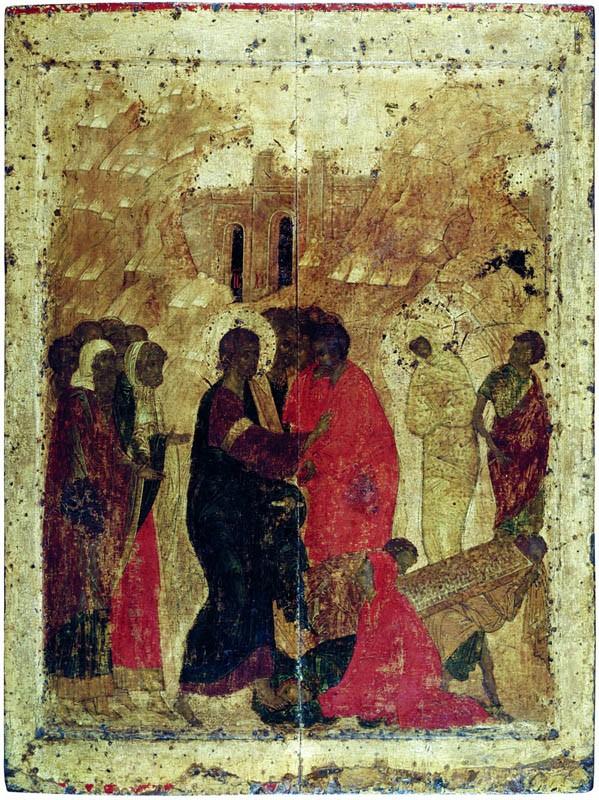 3 Воскрешение Лазаря. Начало XV века. Благовещенский собор Московского кремля
