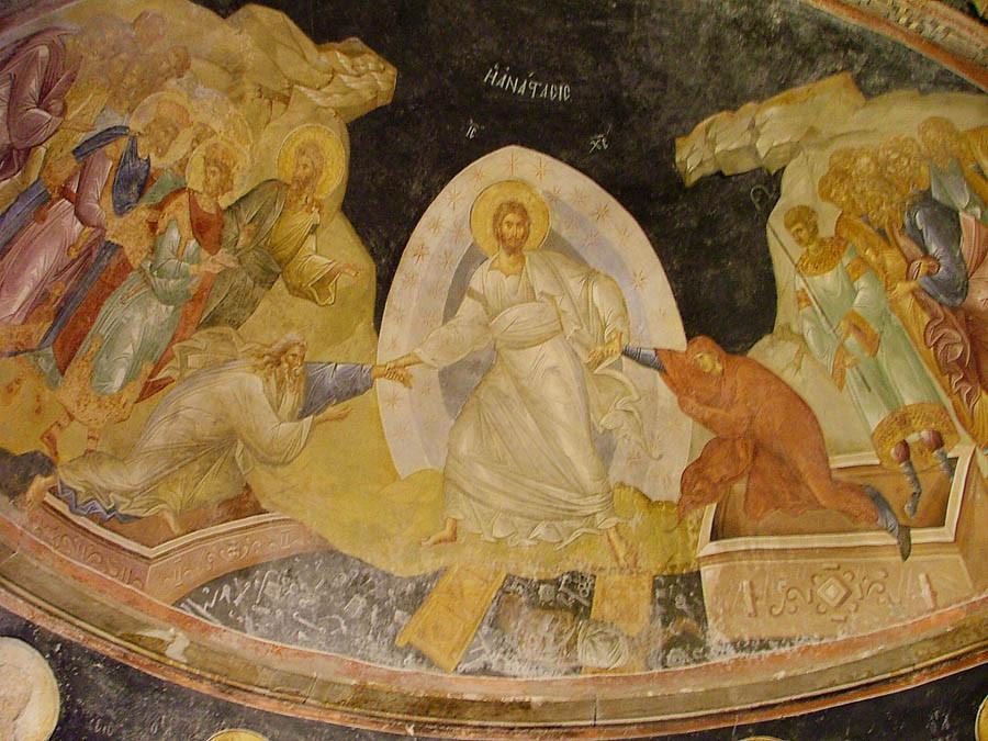 Сошествие во ад. Фреска. Константинополь