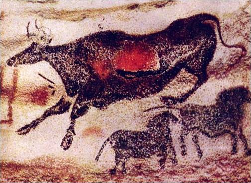 Роспись в пещере Альтамира  в Испании. Эпоха Мадлен
