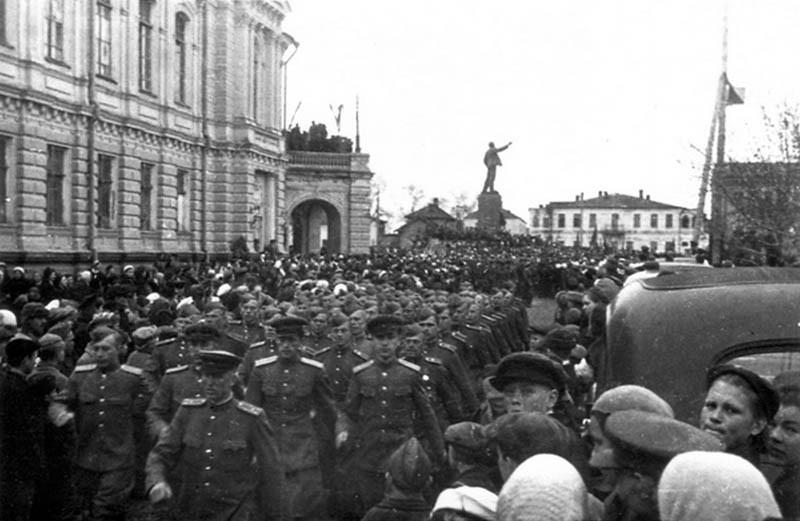 День Победы в Тамбове. 1945 г.