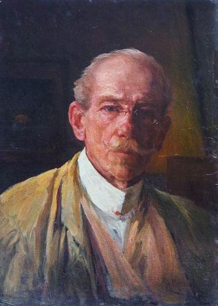 Н.М. Шевченко. Автопортрет. 1924
