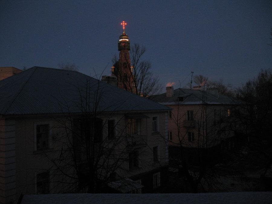 Колокольня Вознесенского монастыря в Тамбове. Фото 16 декабря 2012 г.