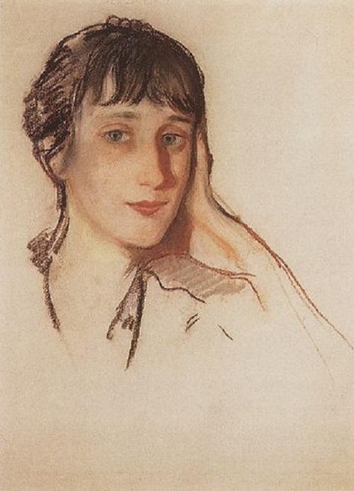 З. Серебрякова. Портрет Анны Ахматовой. 1922