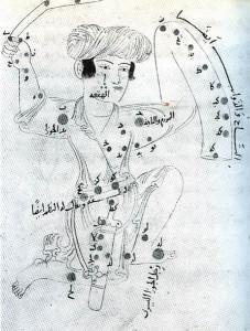Созвездие Ориона, нарисованное Аль-Зуфи, мусульманским астрономом 10 в.