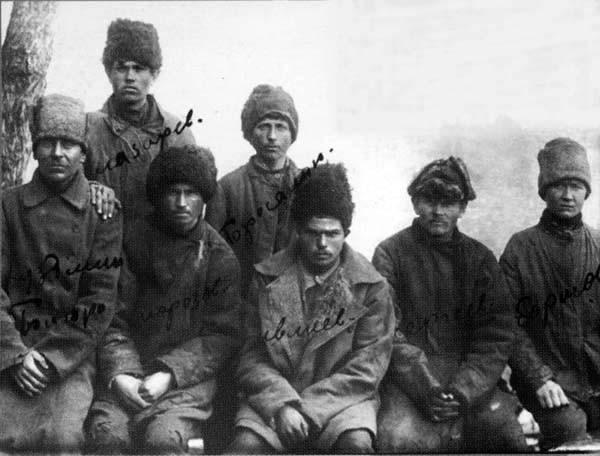 Участники тамбовского восстания. Фото 1921 г.