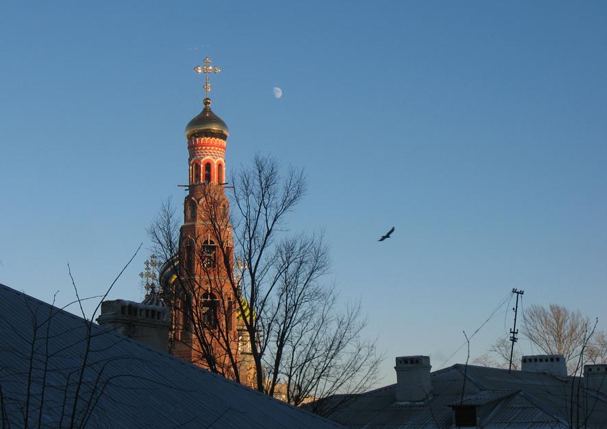 Колокольня Вознесенского монастыря в Тамбове. Фото 23 декабря 2012 г.