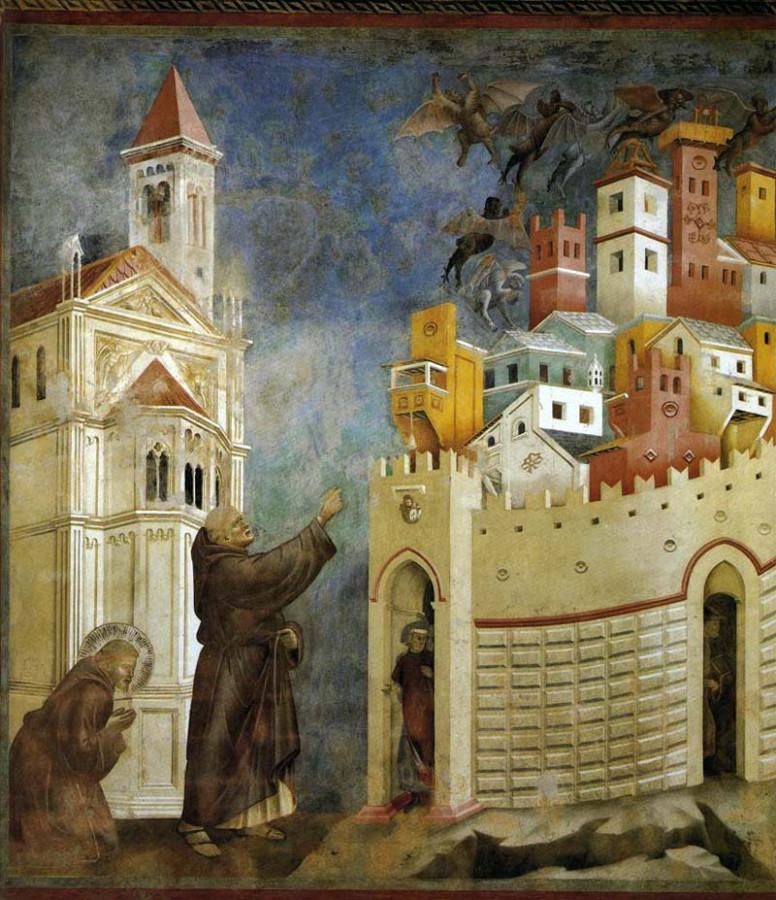 Фрески Джотто в церкви Сан-Франческо в Ассизи