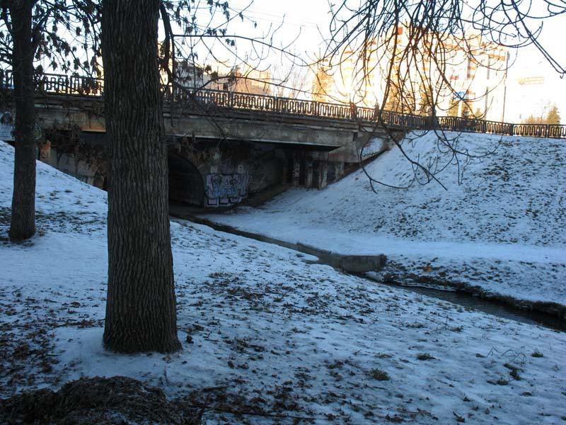 Державинский мост через речку Студенец. Тамбов. Фото 29 декабря 2012 г.