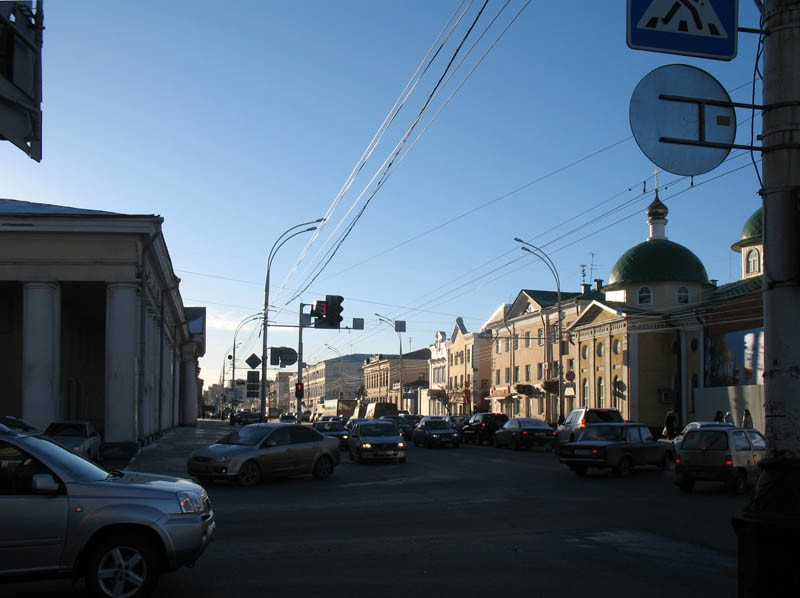Перекресток на углу улиц Советской и Ст. Разина. Тамбов. Фото 29 декабря 2012 г.
