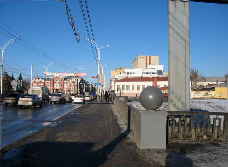 Улица Советская (около Державинского моста через Студенец). Тамбов. Фото 29 декабря 2012 г.