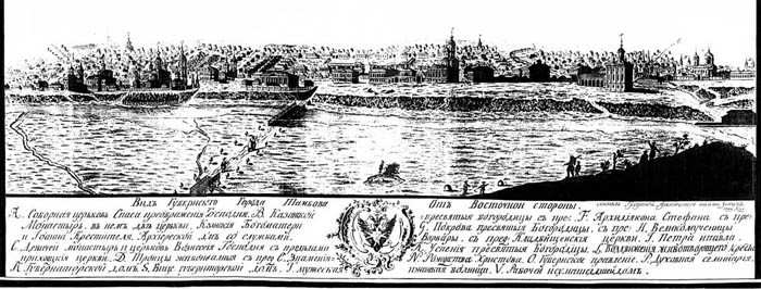 4. Тамбов 1799 года. Гравюра Усачева.