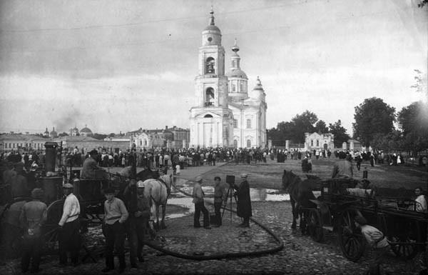 7. Учения пожарных. 1924 г.