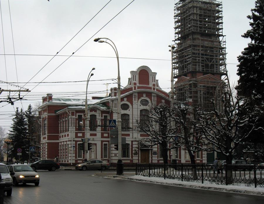 Здание Тамбовского музыкального училища, в котором бывал С.В. Рахманинов (ныне ТГПИ им. С.В. Рахманинова). Фото 9 января 2013 г.