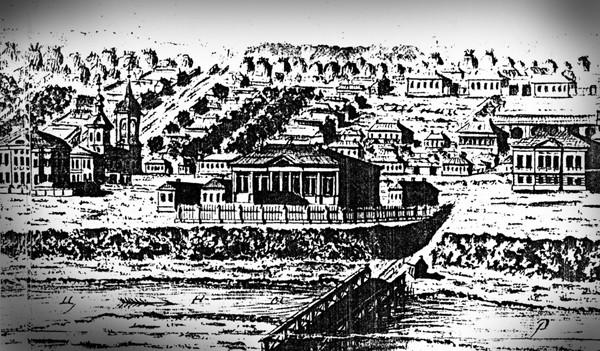 В.А. Усачев. Дом губернатора в Тамбове. Фрагмент гравюры. 1799