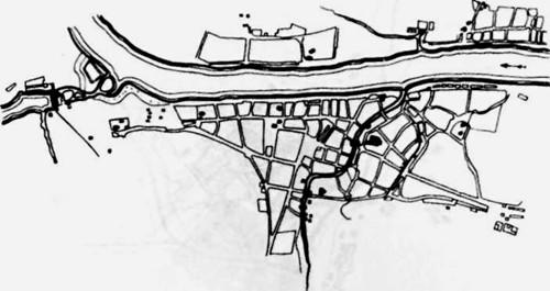 Старинный план города Устюжины Железнопольской.