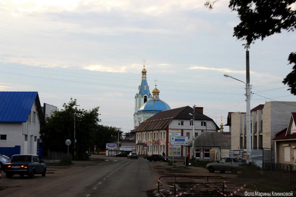 Иоанно-Богословский храм города Рассказово. Фото 2014 года