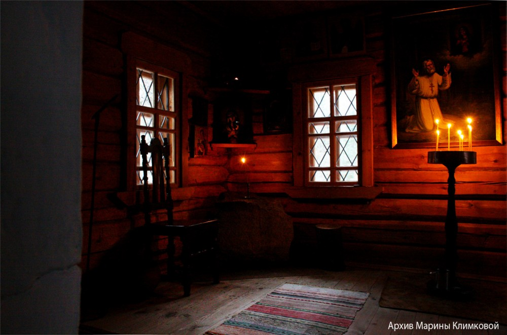 В келье Дальней пустыньки преподобного Серафима Саровского. Фото 2018 года