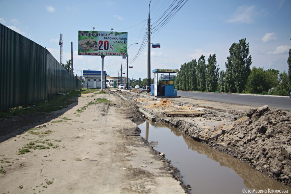 На Рассказовском шоссе. Тамбов. Фото 28 июня 2020 года