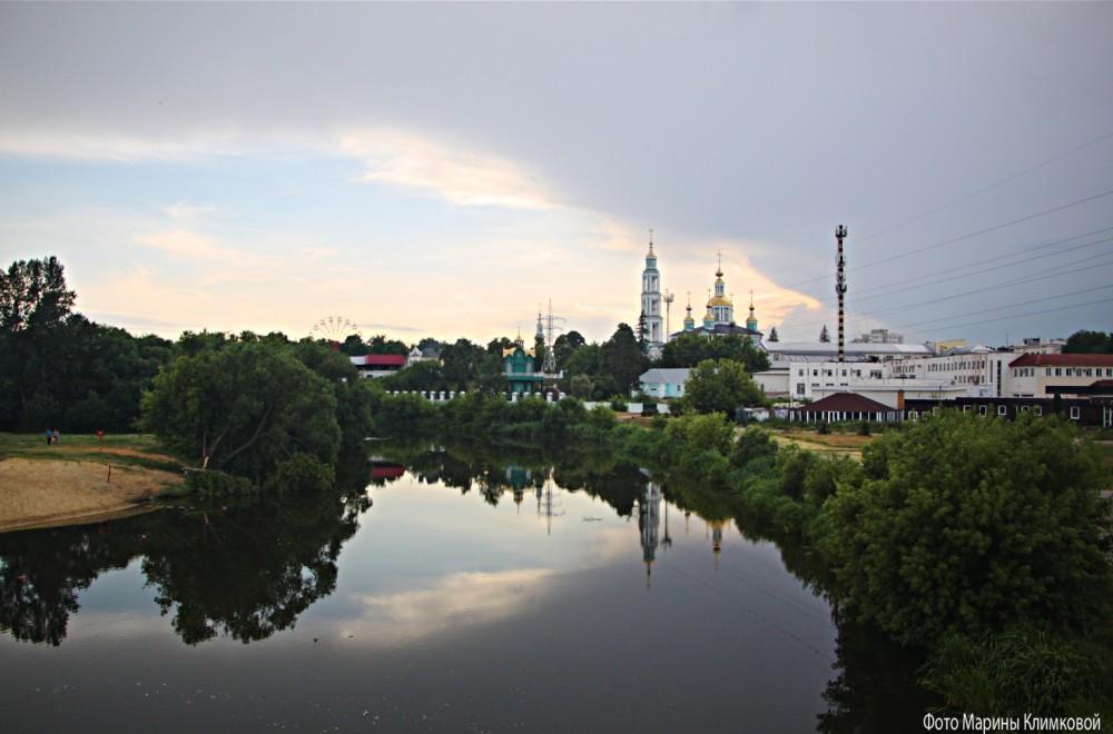 Река Цна. Тамбов. Фото 28 июня 2020 года
