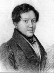 И.И. Вивьен. Портрет Е.А. Боратынского.1826