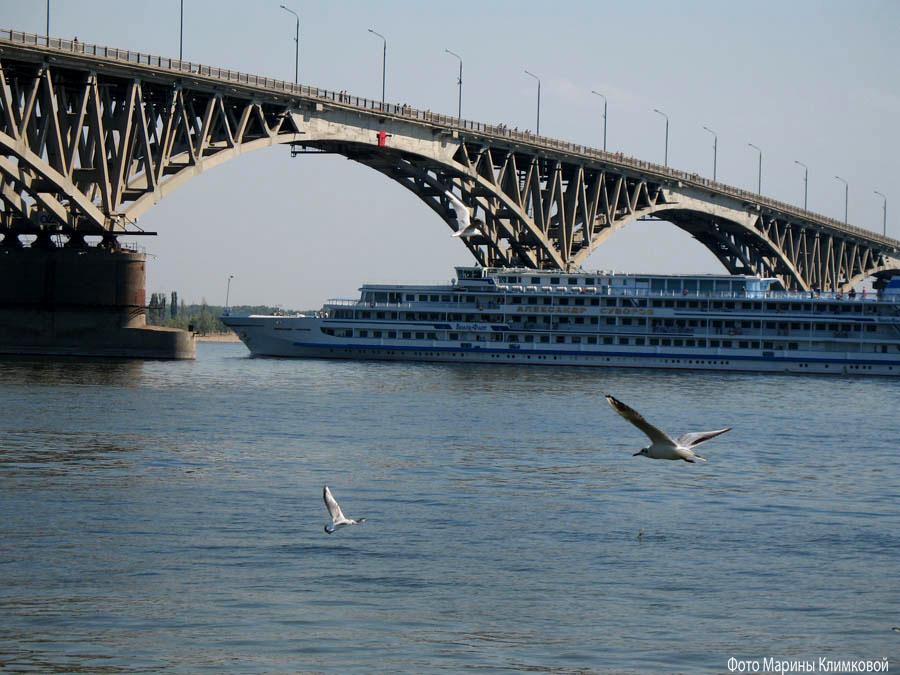 Мост через Волгу. Фото 20 августа 2006 года