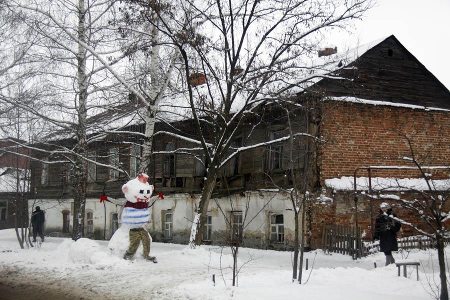 На улице Ленинградской. Тамбов. Фото 9 января 2013 г.