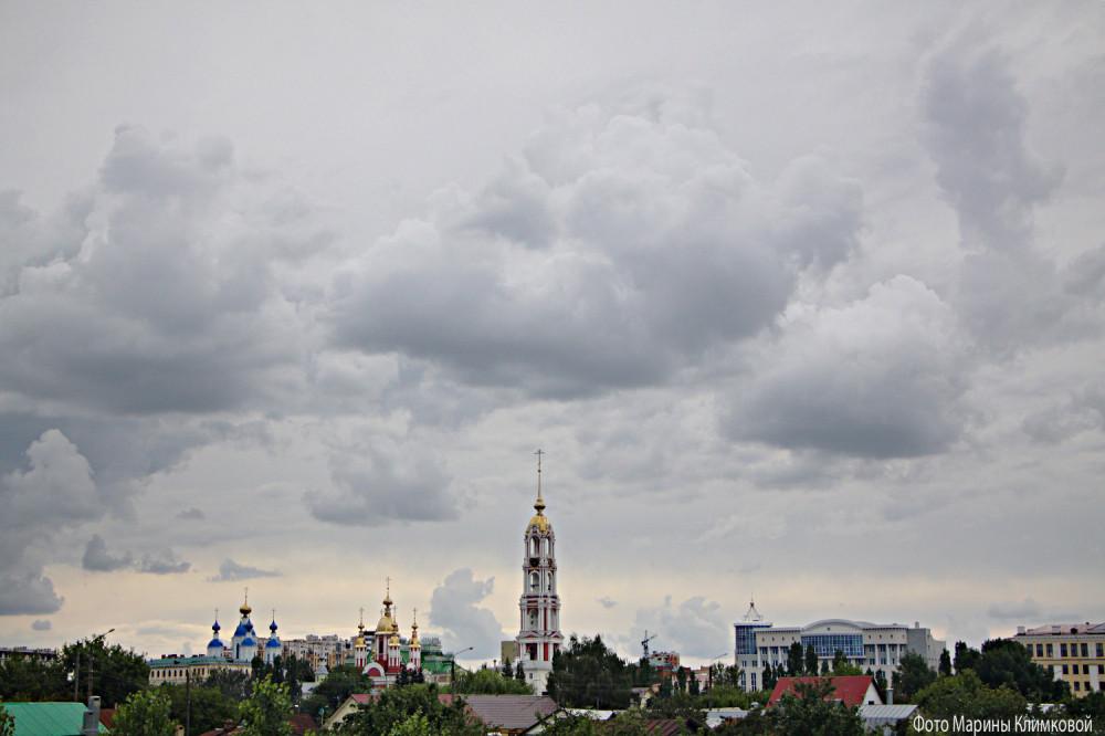 Тамбов. Вид на Казанский монастырь с Рассказовского шоссе. Фото 18 июля 2020 года