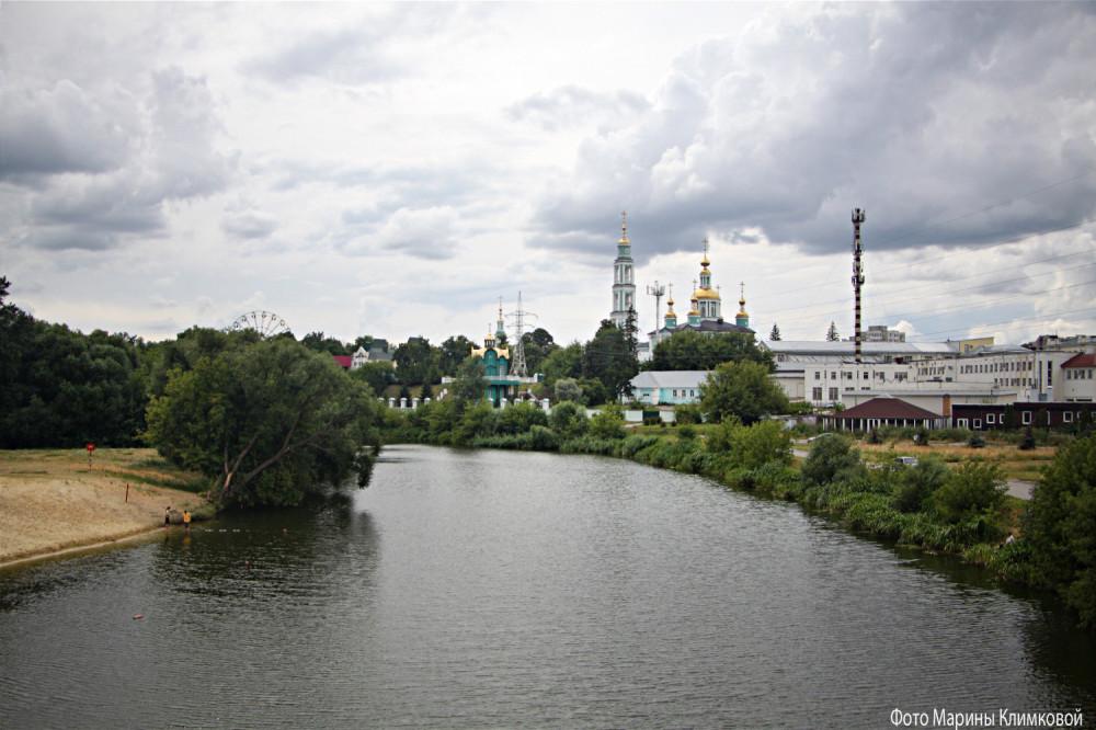 Тамбов. Вид на кафедральный Спасо-Преображенский собор. Фото 18 июля 2020 года