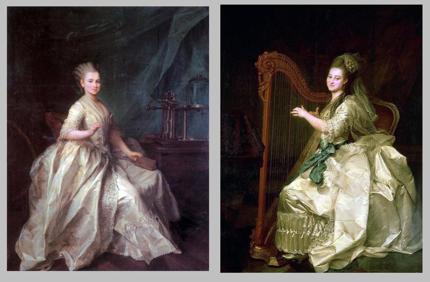 Д.Г. Левицкий. Портрет смолянок Е.И. Молченовой и Г.И. Алымовой. 1776