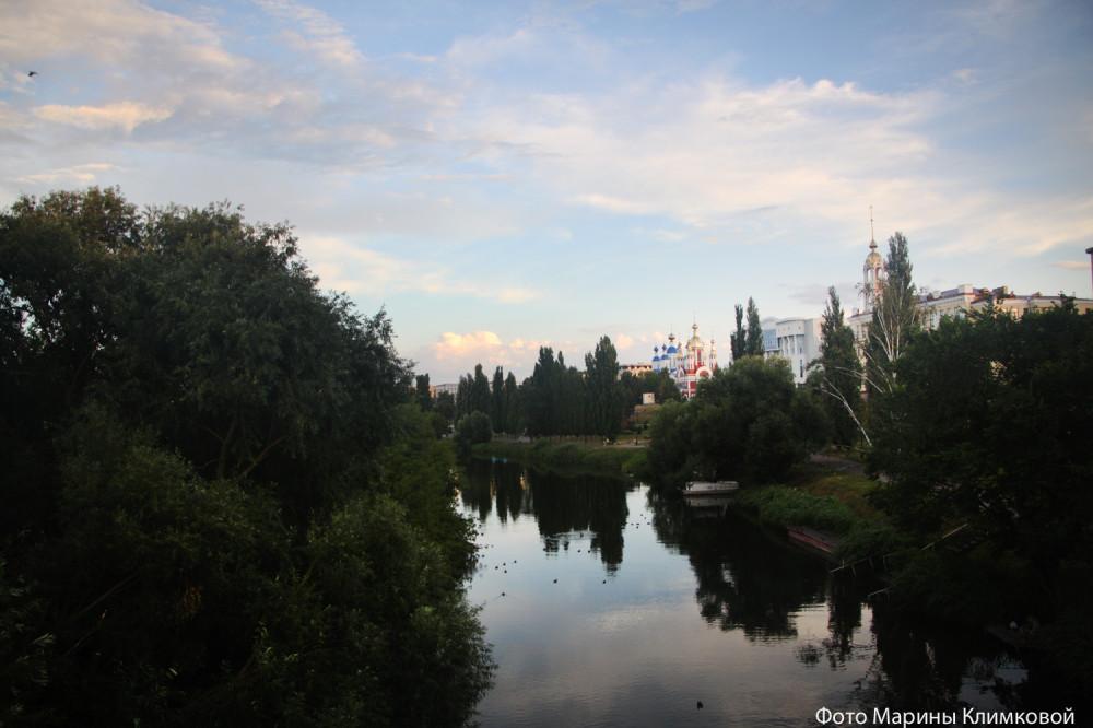 Река Цна. Тамбов. Фото 21 июля 2020 года