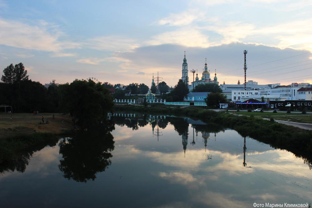 Тамбов. Вид на Спасо-Преображенский кафедральный собор. Фото 2014 года