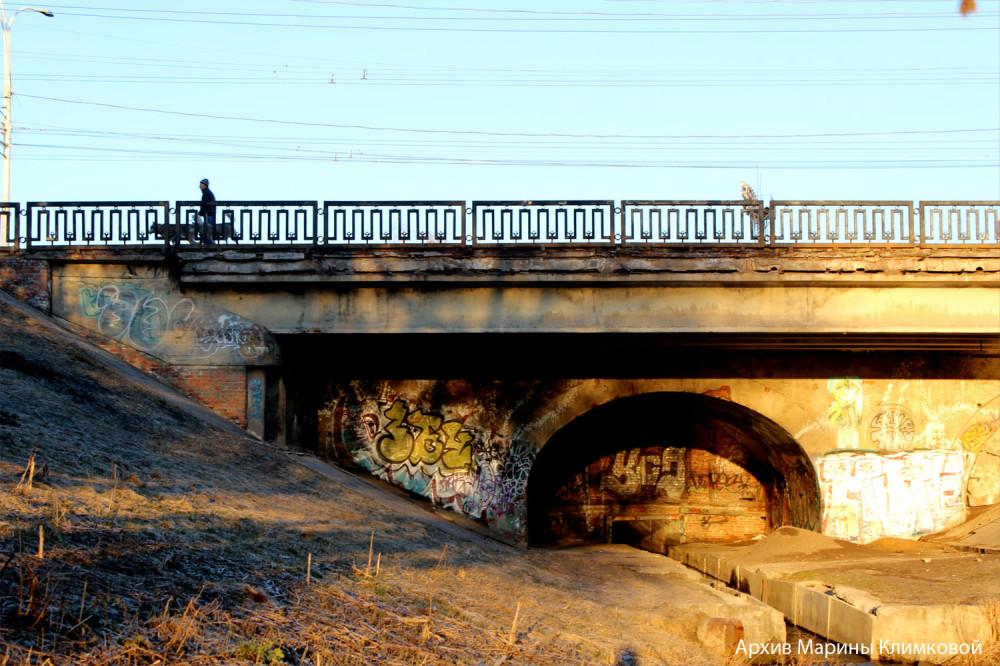 Державинский мост в Тамбове. Фото 12 апреля 2014 года