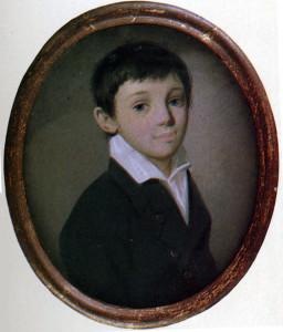 К. Барду. Портрет Евгения Боратынского. 1810